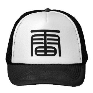 Carácter chino: leus, significando: trueno gorra