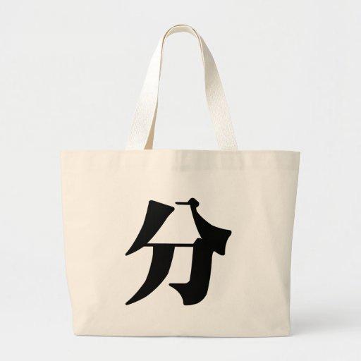 Carácter chino: pantano, significando: sepárese, c bolsas