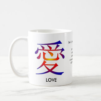 Carácter chino para el amor taza