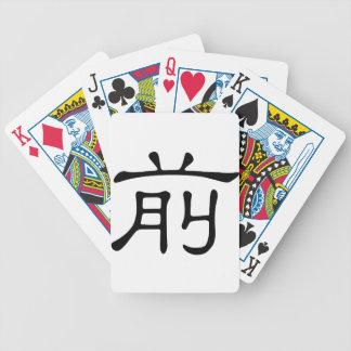 Carácter chino: qian, significando: frente baraja de cartas bicycle