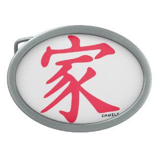 Carácter chino rojo de la familia del escarlata hebillas de cinturon