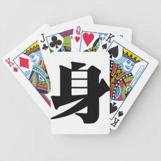 Carácter chino: shen, significando: cuerpo baraja de cartas bicycle