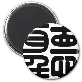 Carácter chino tintín significando la audición iman