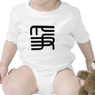 Carácter chino: zheng, significando: lucha, trajes de bebé