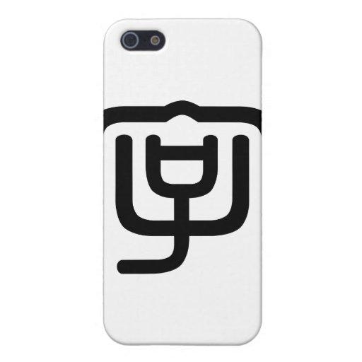 Carácter chino: zi4, significando: letra, characte iPhone 5 protector