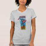 Carácter cómico retro de capitán América Camiseta