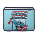 Carácter cómico retro de capitán América Fundas MacBook