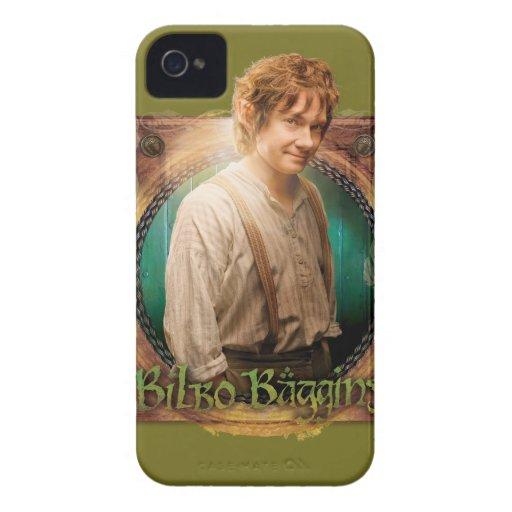 Carácter de BILBO BAGGINS™ con nombre iPhone 4 Case-Mate Fundas