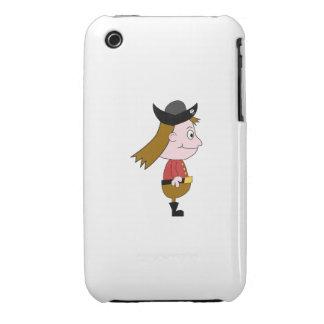 Carácter de dibujo animado del pirata Case-Mate iPhone 3 protectores