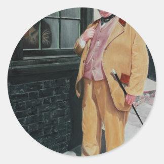 Carácter de Dickens Etiqueta Redonda