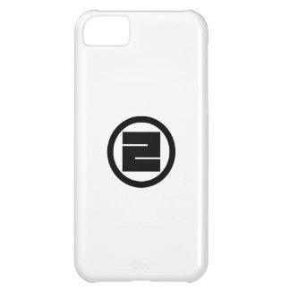 Carácter de kanji cuadrado para uno en círculo funda para iPhone 5C