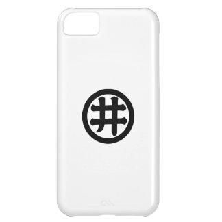 Carácter de kanji i en círculo funda para iPhone 5C