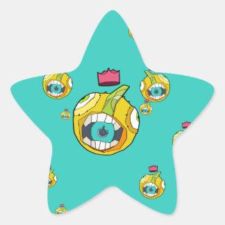 Carácter de la bola de la boca del altavoz en pegatina en forma de estrella