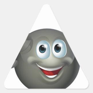 Carácter de la bomba colcomanias triangulo