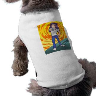 Carácter de la galería de arte del animado de Harr Playera Sin Mangas Para Perro