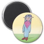 Carácter de la galería de arte del animado de la m imán para frigorifico