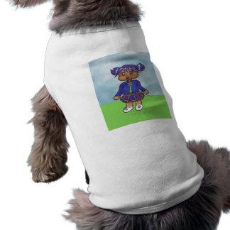 Carácter de la galería de arte del animado de la t playera sin mangas para perro