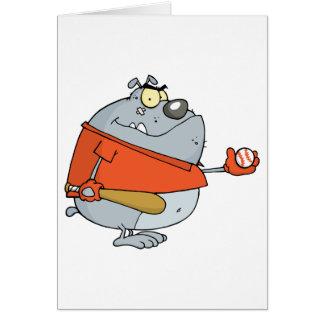 Carácter de la mascota del dibujo animado del dogo tarjeta de felicitación