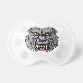 Carácter de la mascota del lobo chupetes