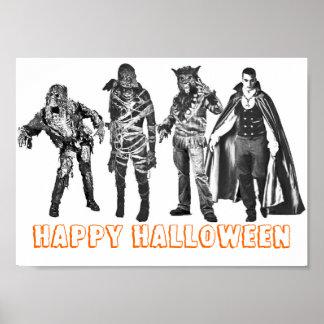 Carácter de la obra clásica del feliz Halloween Póster