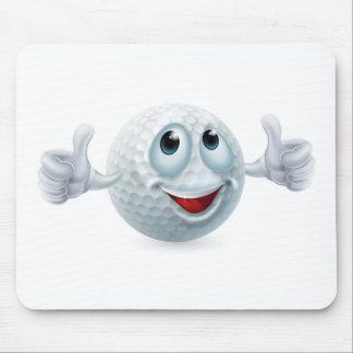 Carácter de la pelota de golf del dibujo animado tapete de ratones