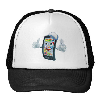 Carácter de la reparación del teléfono móvil gorros bordados