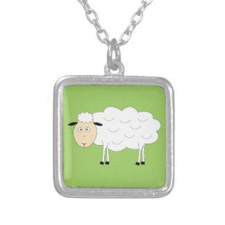Carácter de las ovejas colgante cuadrado