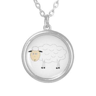 Carácter de las ovejas colgante redondo