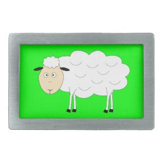 Carácter de las ovejas hebilla cinturón rectangular