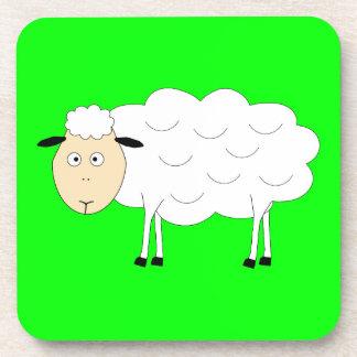 Carácter de las ovejas posavasos de bebidas