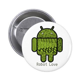 Carácter de Paisley para el robot de Android™ Pin Redondo De 2 Pulgadas
