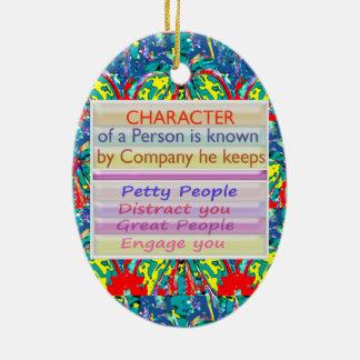Carácter de una persona… adorno ovalado de cerámica