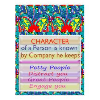 Carácter de una persona… tarjeta postal