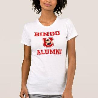 Carácter del bingo U en camiseta casual del valor Playeras