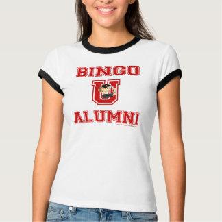 Carácter del bingo U en camiseta de la letra Camisas