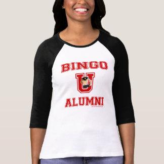 Carácter del bingo U en camiseta del jersey de la