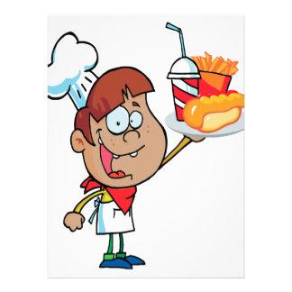 carácter del camarero de los alimentos de preparac anuncios personalizados