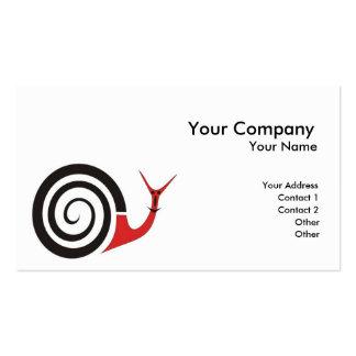 Carácter del caracol tarjeta de visita