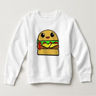 Carácter del cheeseburger de Kawaii Sudadera De Forro Polar Para Niños