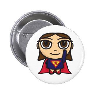 Carácter del chica del superhéroe pins