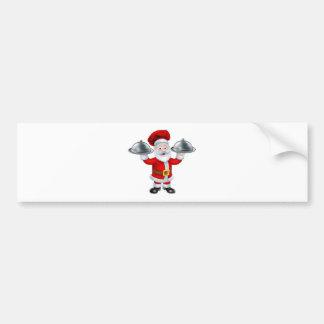 Carácter del cocinero del navidad de Santa Pegatina Para Auto