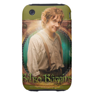 Carácter del ™ de BILBO BAGGINS con nombre iPhone 3 Tough Cobertura