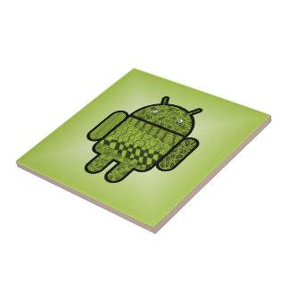 Carácter del Doodle de Paisley para Android™ Azulejo Cuadrado Pequeño