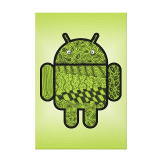 Carácter del Doodle de Paisley para Android™ Impresiones En Lona