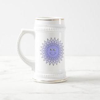 Carácter del hielo con una sonrisa Azul en blanco Taza De Café
