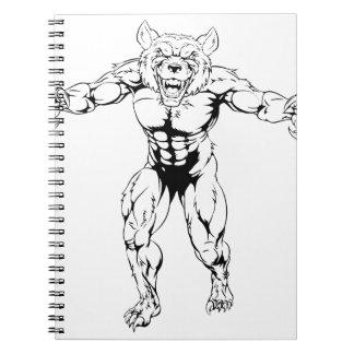 Carácter del hombre lobo libretas