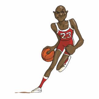 carácter del jugador de básquet del dibujo animado esculturas fotográficas