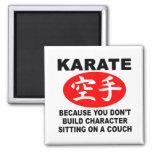 Carácter del karate imán cuadrado