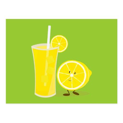 Carácter del limón que se coloca al lado de la postal