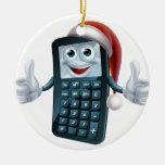 Carácter del navidad de la matemáticas de la calcu adornos